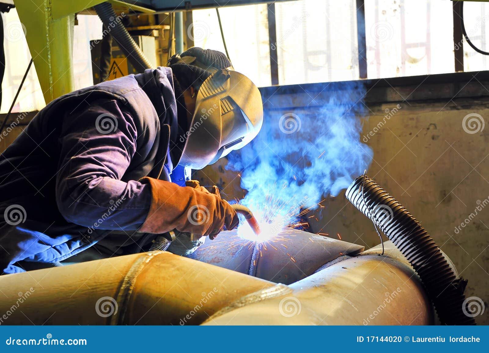 schweissen mit mig mag methode stockfoto bild 17144020. Black Bedroom Furniture Sets. Home Design Ideas