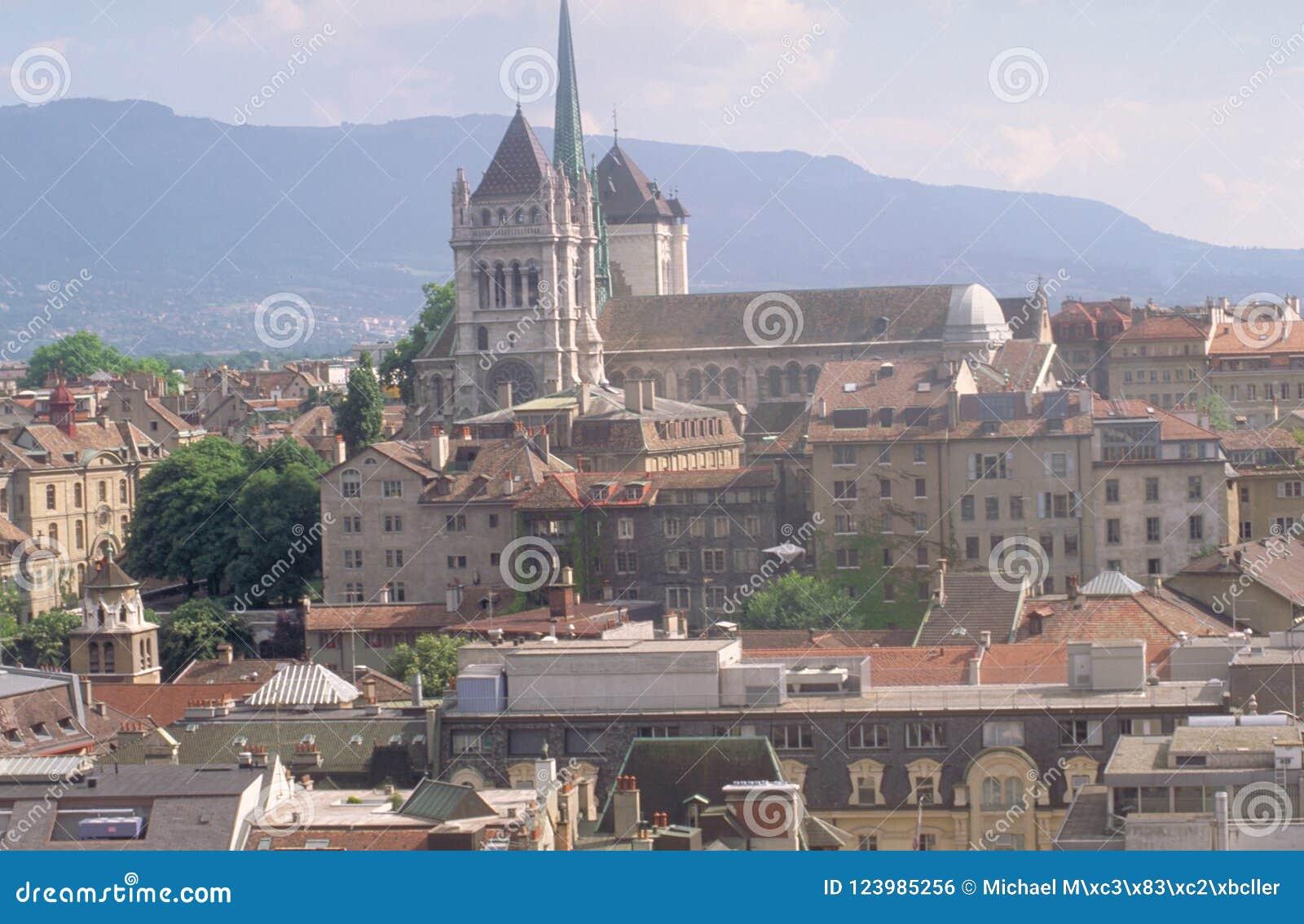 Schweiz: Genève-stad och domkyrkan