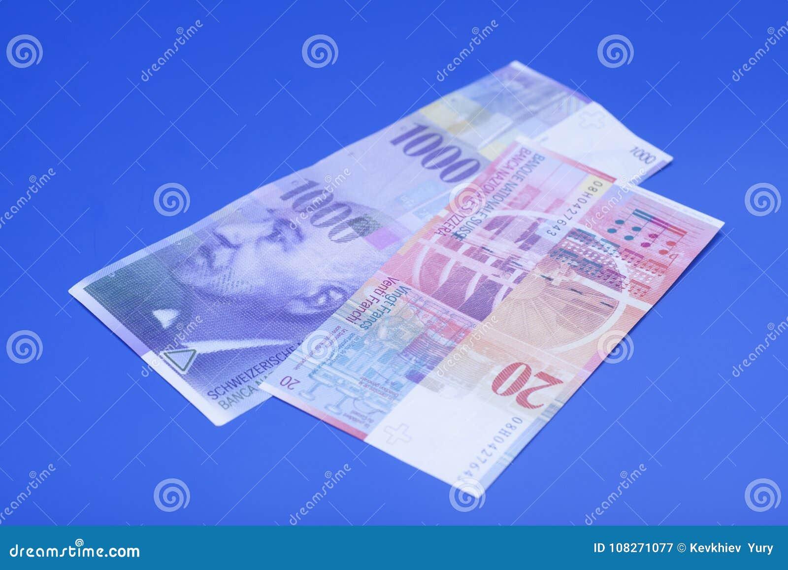 Schweizare 1000 och 20 franc anmärkningar