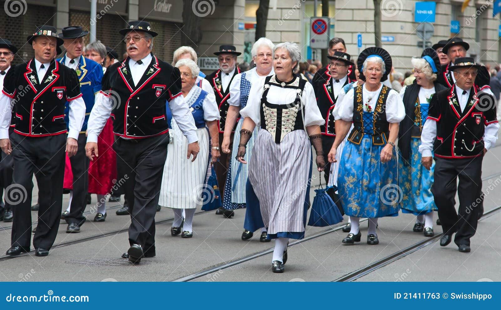 Schweizer Nationaltagparade in Zürich