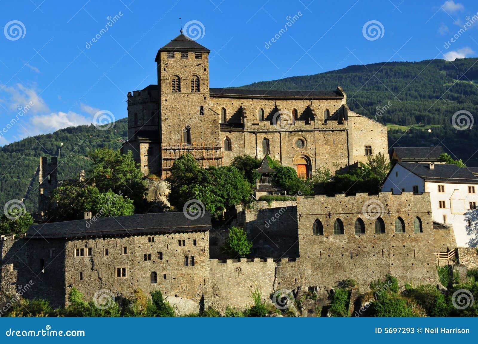 Download Schweizer Verstärkte Kirche Stockbild - Bild von europa, tranquil: 5697293