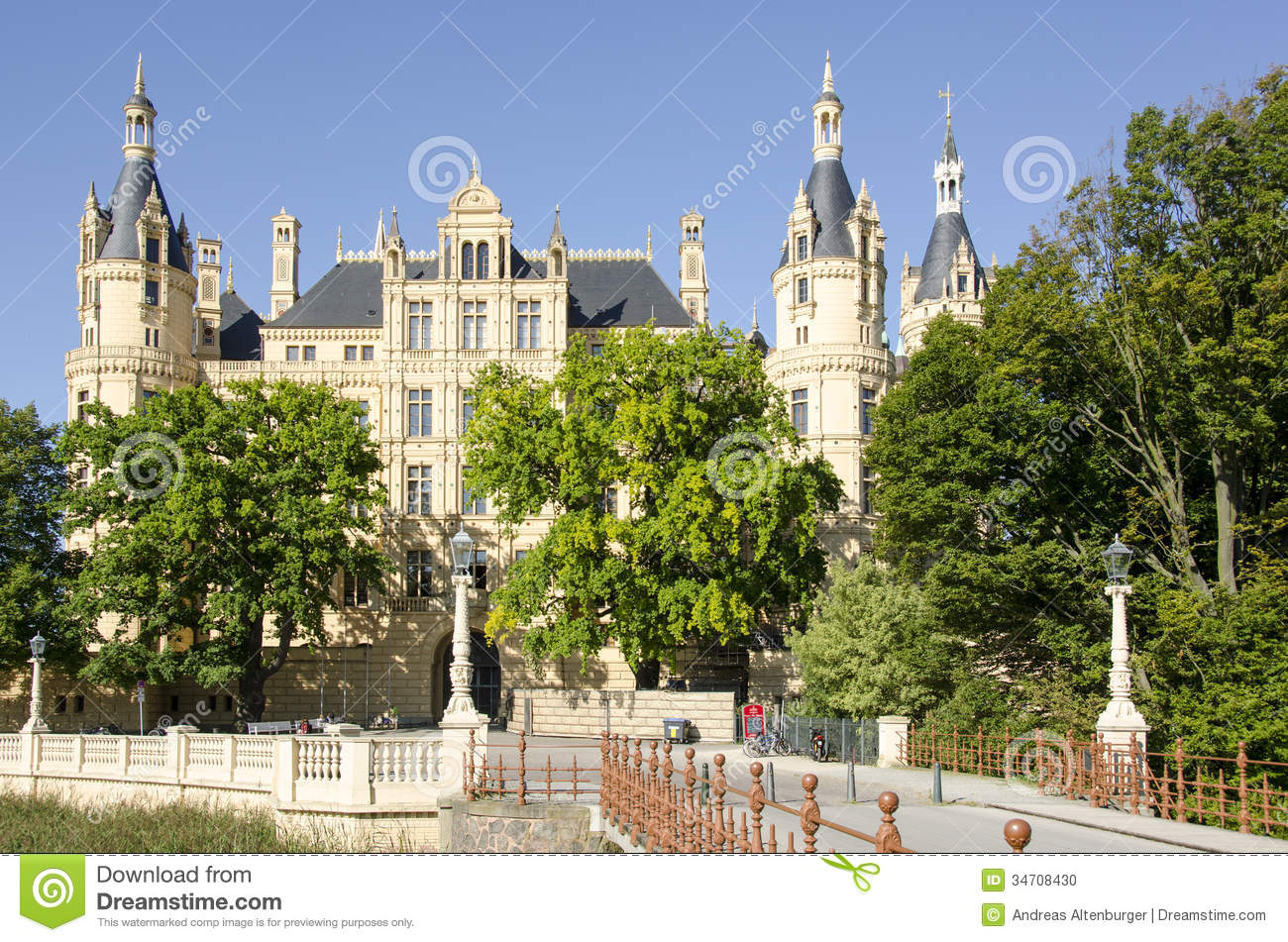 The castle of Schwerin in Schwerin, the capital of Mecklenburg ...