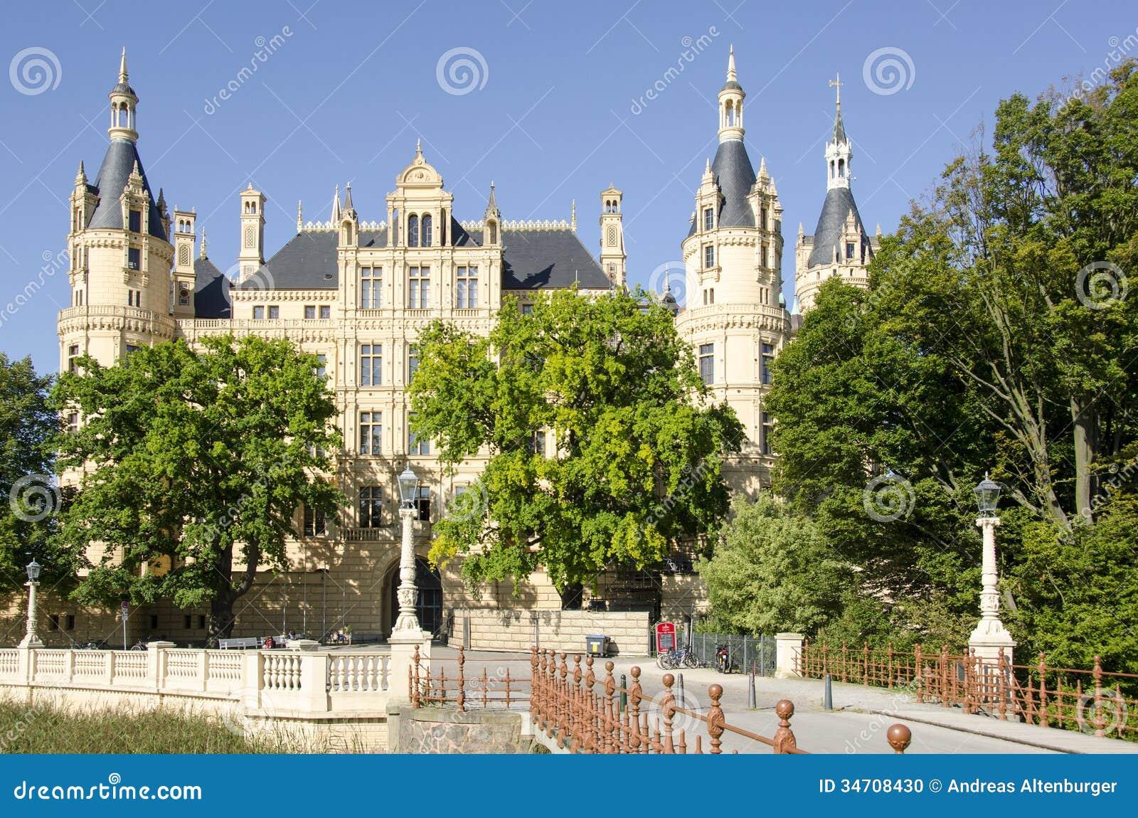The castle of Schwerin in Schwerin, the capital of Mecklenburg ...