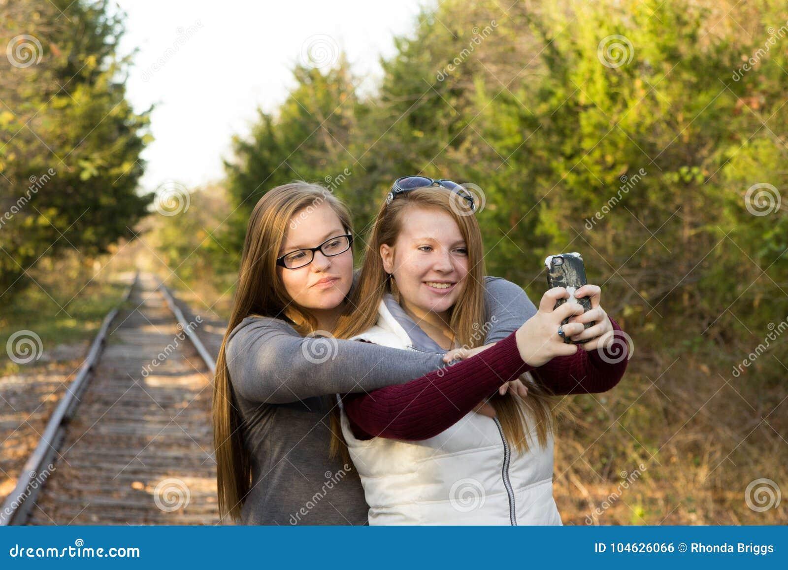 Schwestern Selfie