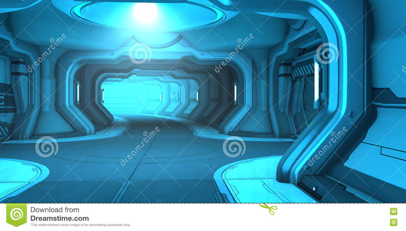 Sci fi corridor interior design stock illustration image for Sci fi decor