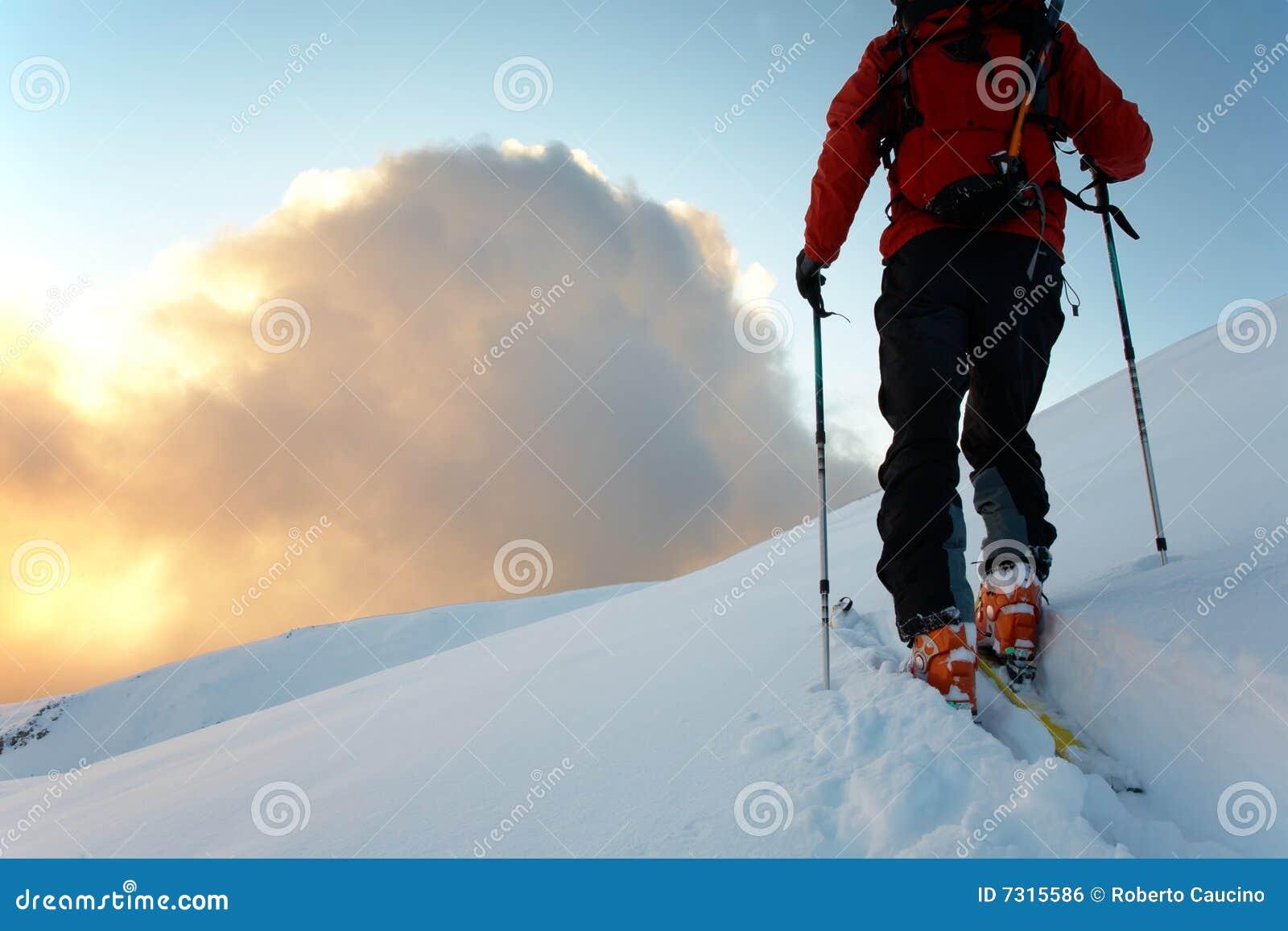 Sciatore di Backcountry