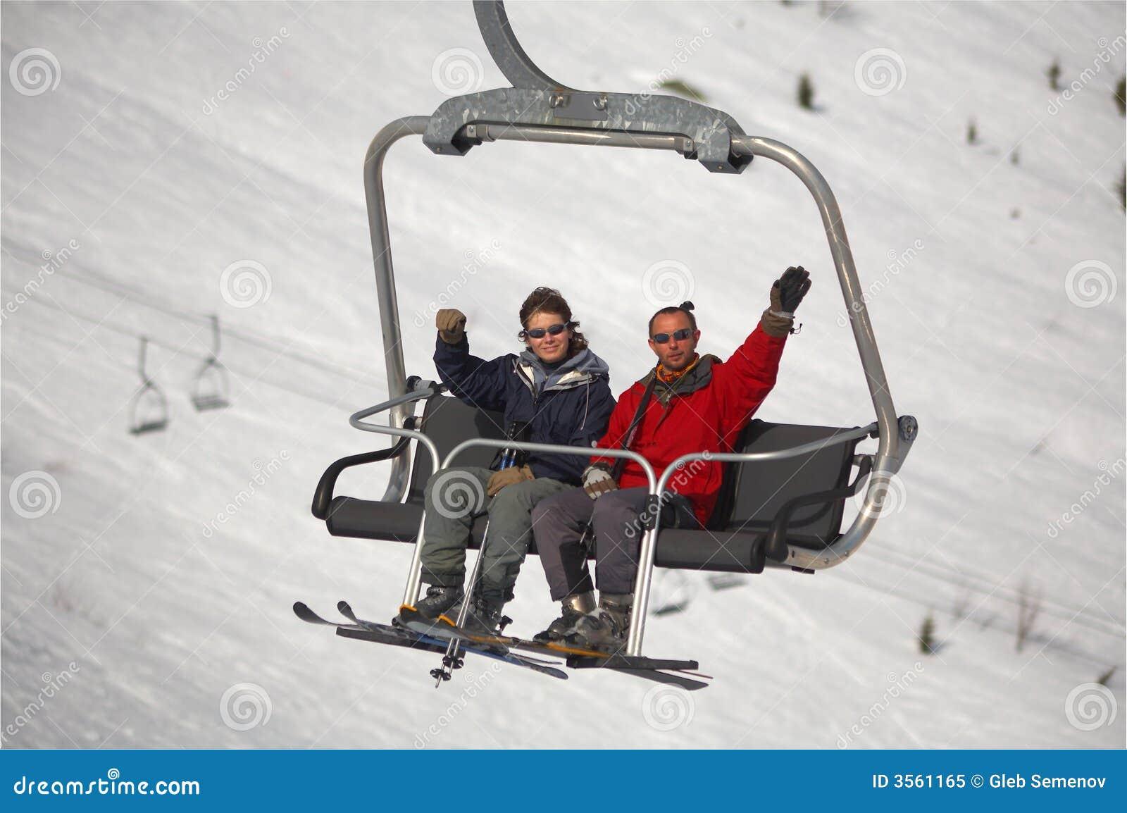 Sciatori della montagna