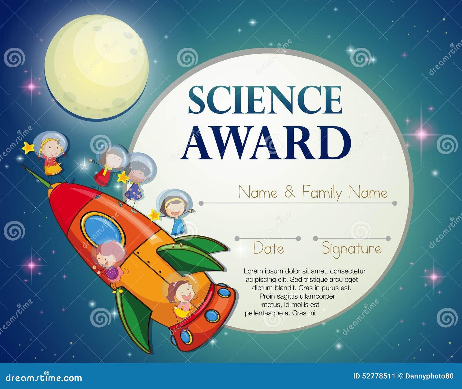 Science Award Stock Vector Image 52778511