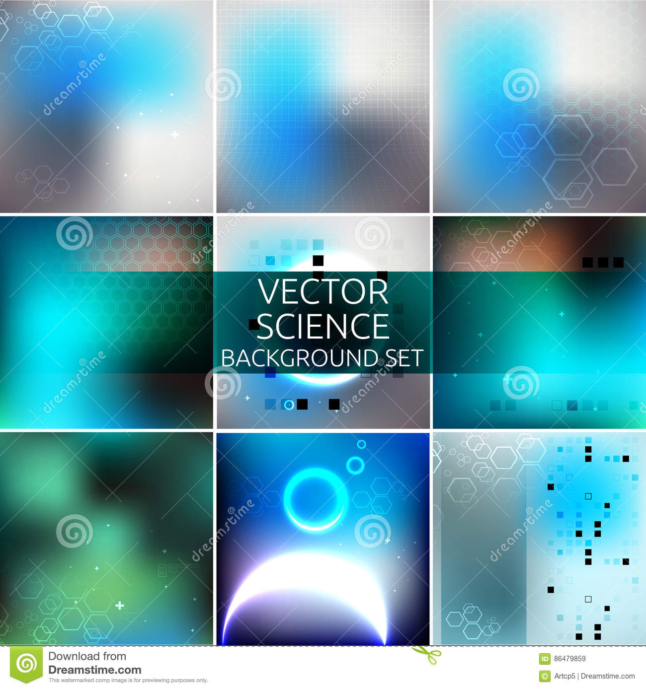 Science Background Set Stock Vector Illustration Of Energy 86479859