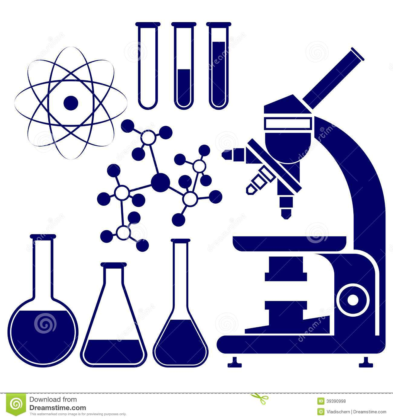 science and chemistry icons set vector stock vector baker victory clinic baker victory clinic