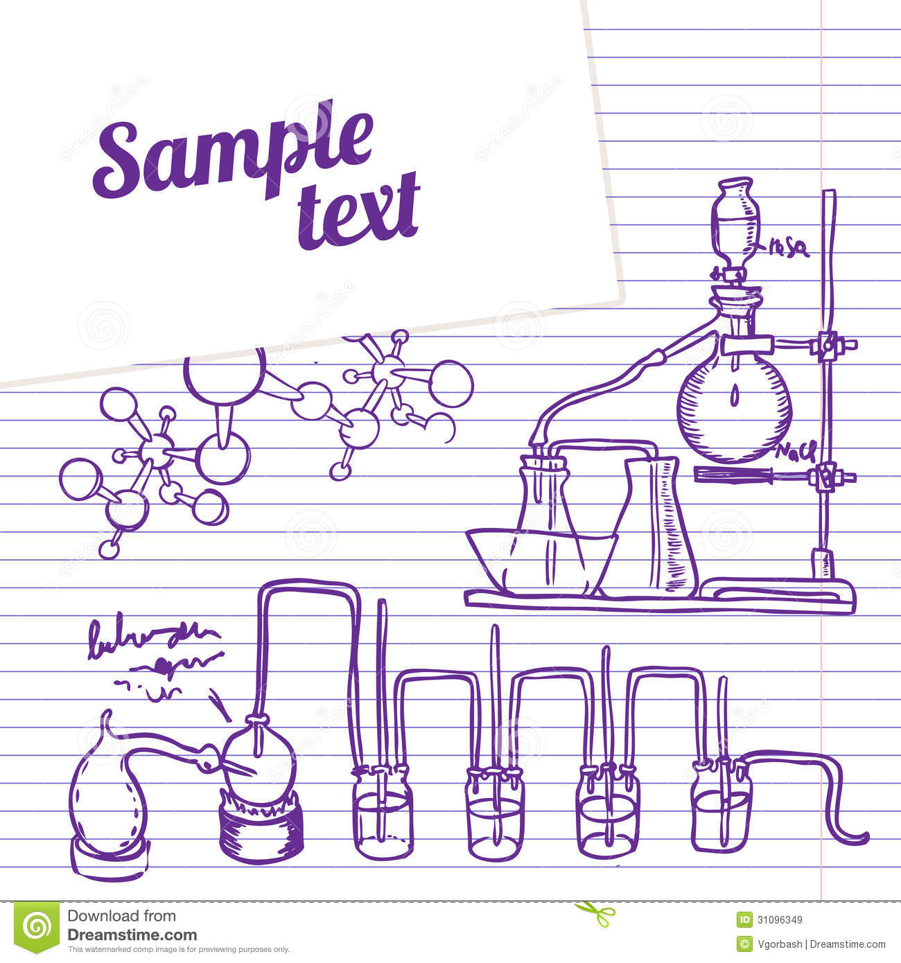 Science Laboratory Background Design: Science Chemistry Lab Background (sketchy Style) Royalty