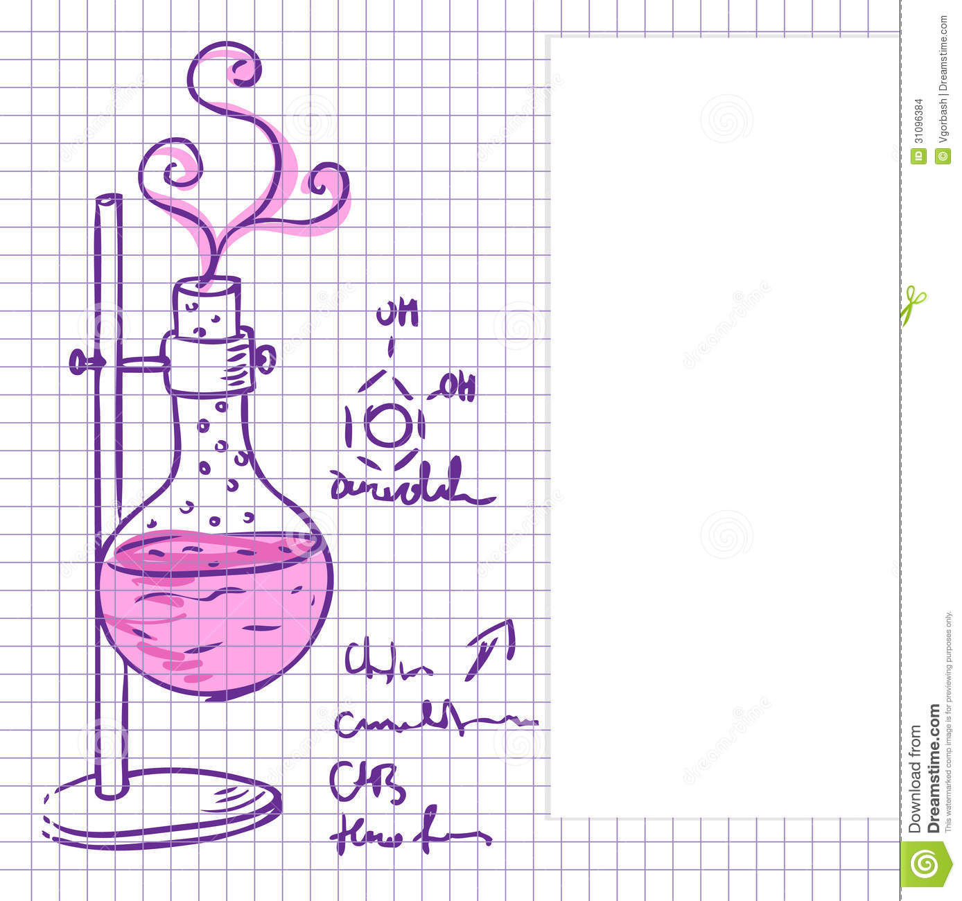 Science Laboratory Background Design: Science Chemistry Lab Background (sketchy Style) Stock