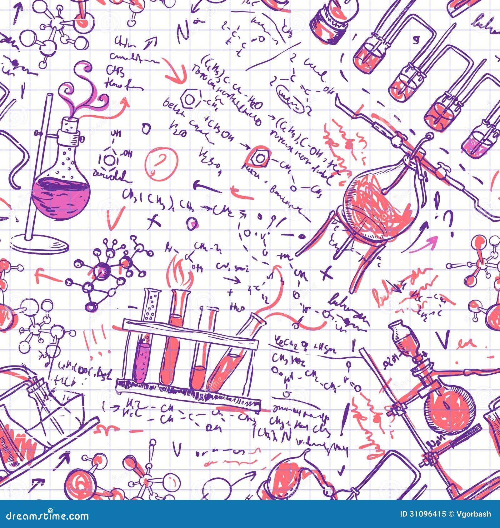 Science Laboratory Background Design: Science Chemistry Laboratory Background (sketchy Seamless