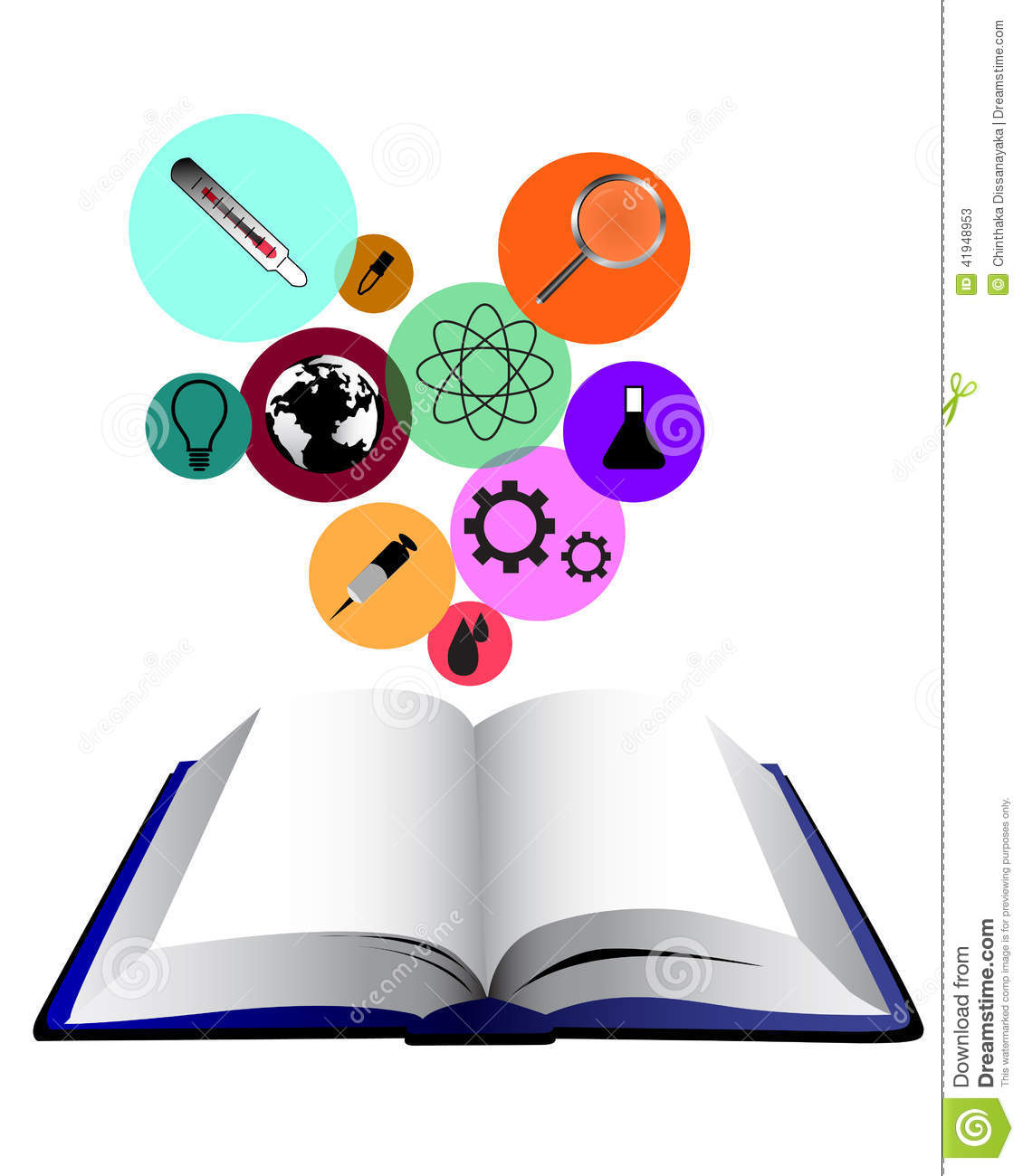 Science Concept Book Stock Vector Image 41948953