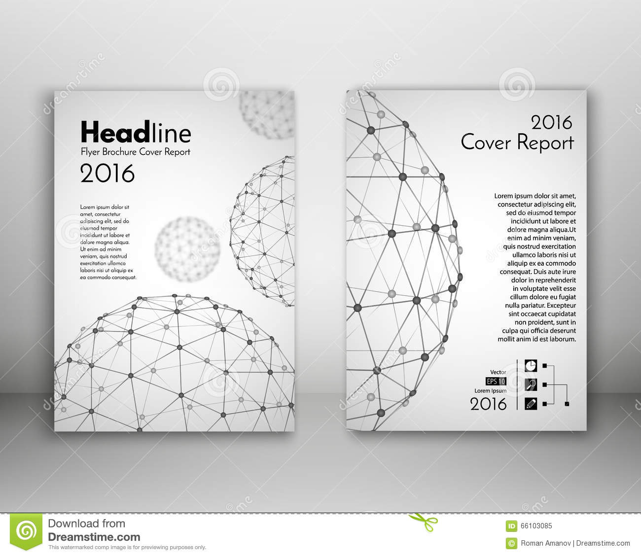 Design Science Journal Cambridge: Science Design Vector Template. Cover Annual Report In A4