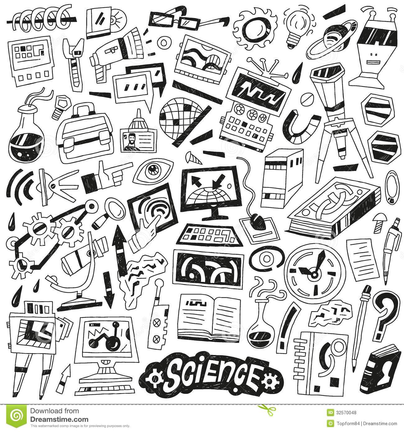 Science Doodles Royalty Free Stock Photos Image 32570048