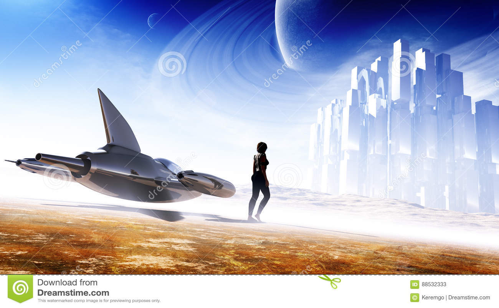The Art Of Animation, hong il An   Paisaje de fantasía ...  Science Conceptual Illustration