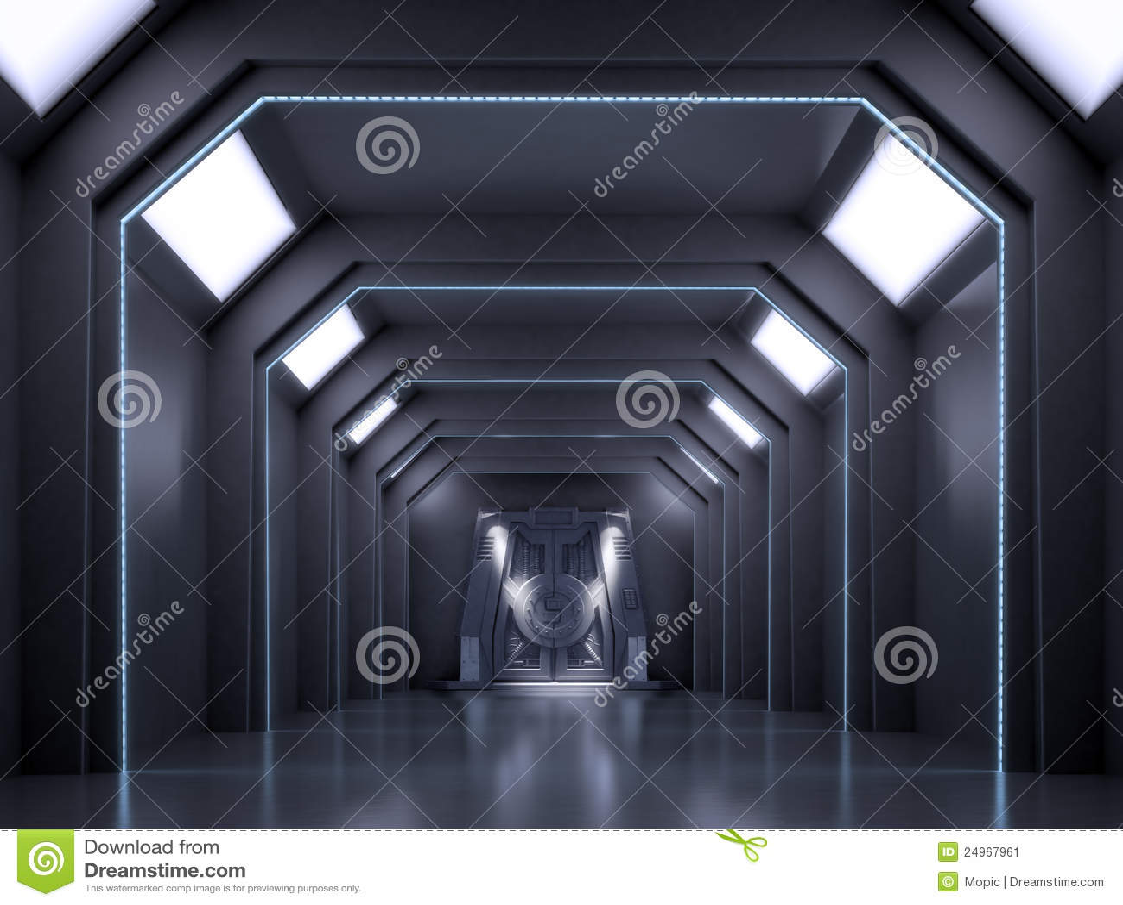 Science fiction interior scene