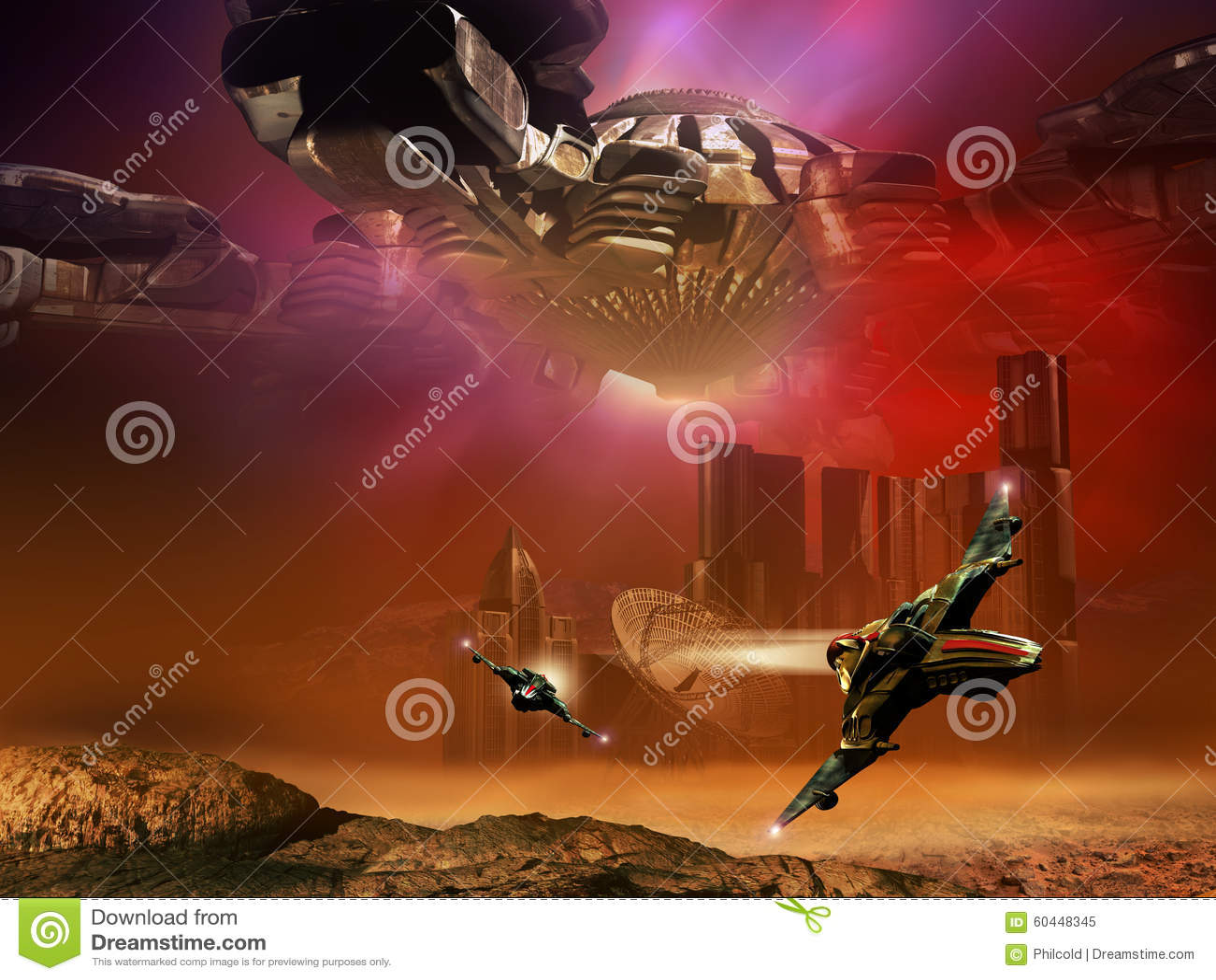 Science fiction scene