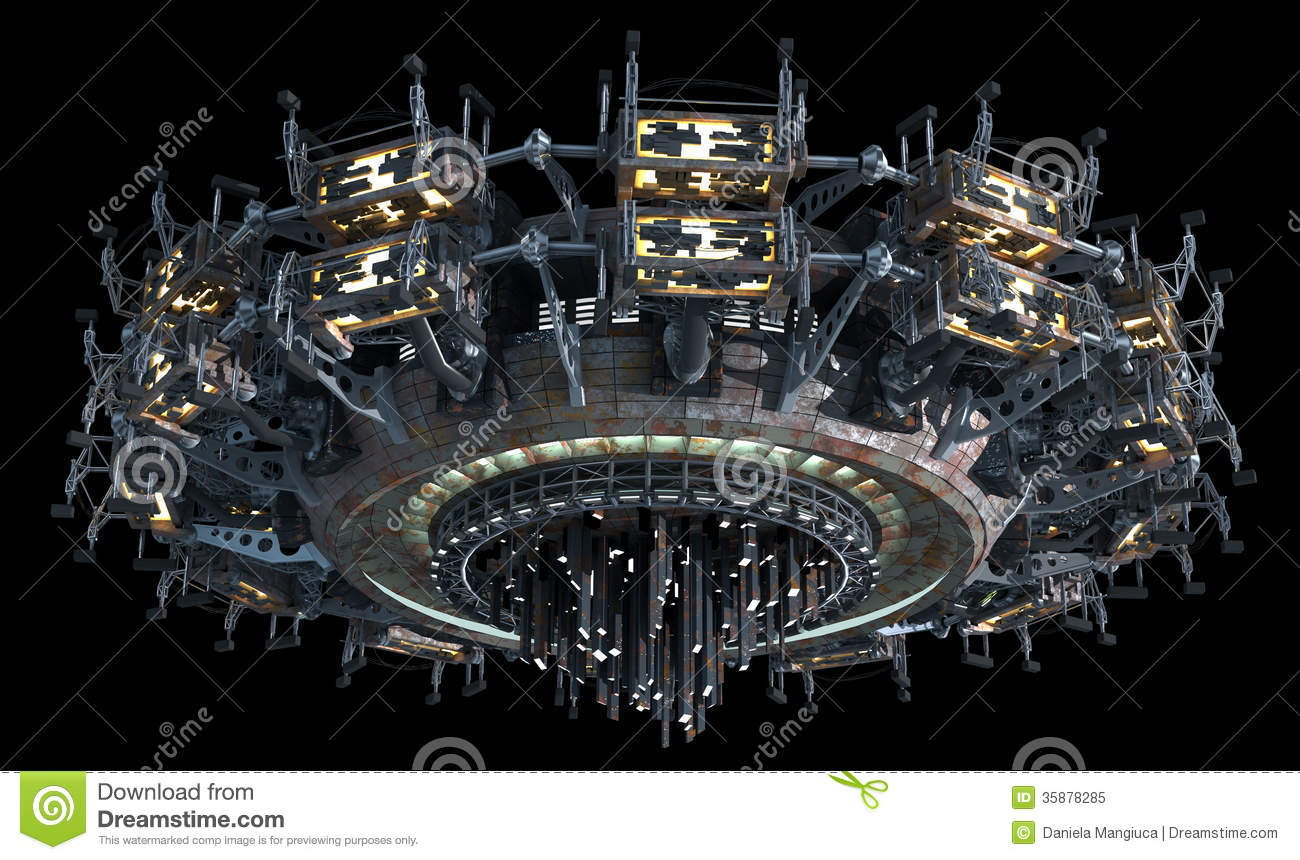 Science Fiction Spaceship Royalty Free Stock Photo - Image ...