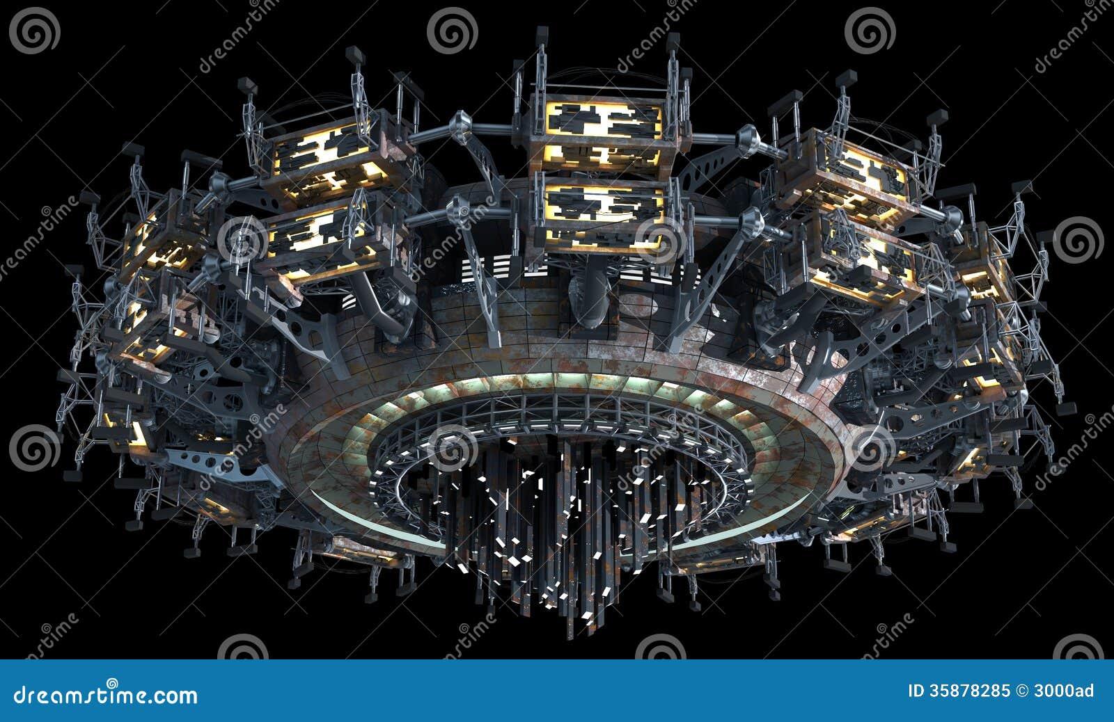 3d spatial science fiction blond slave 6