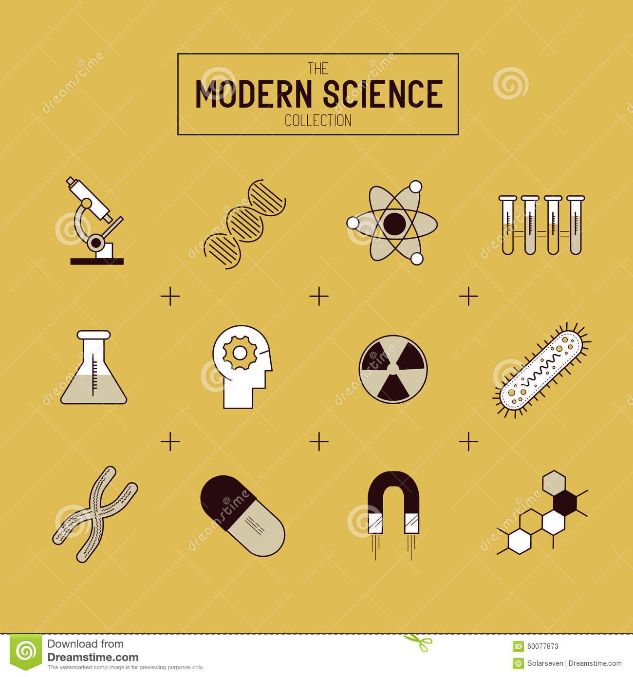 Science Gold Vector Icon Set Stock Vector Illustration Of Chemical