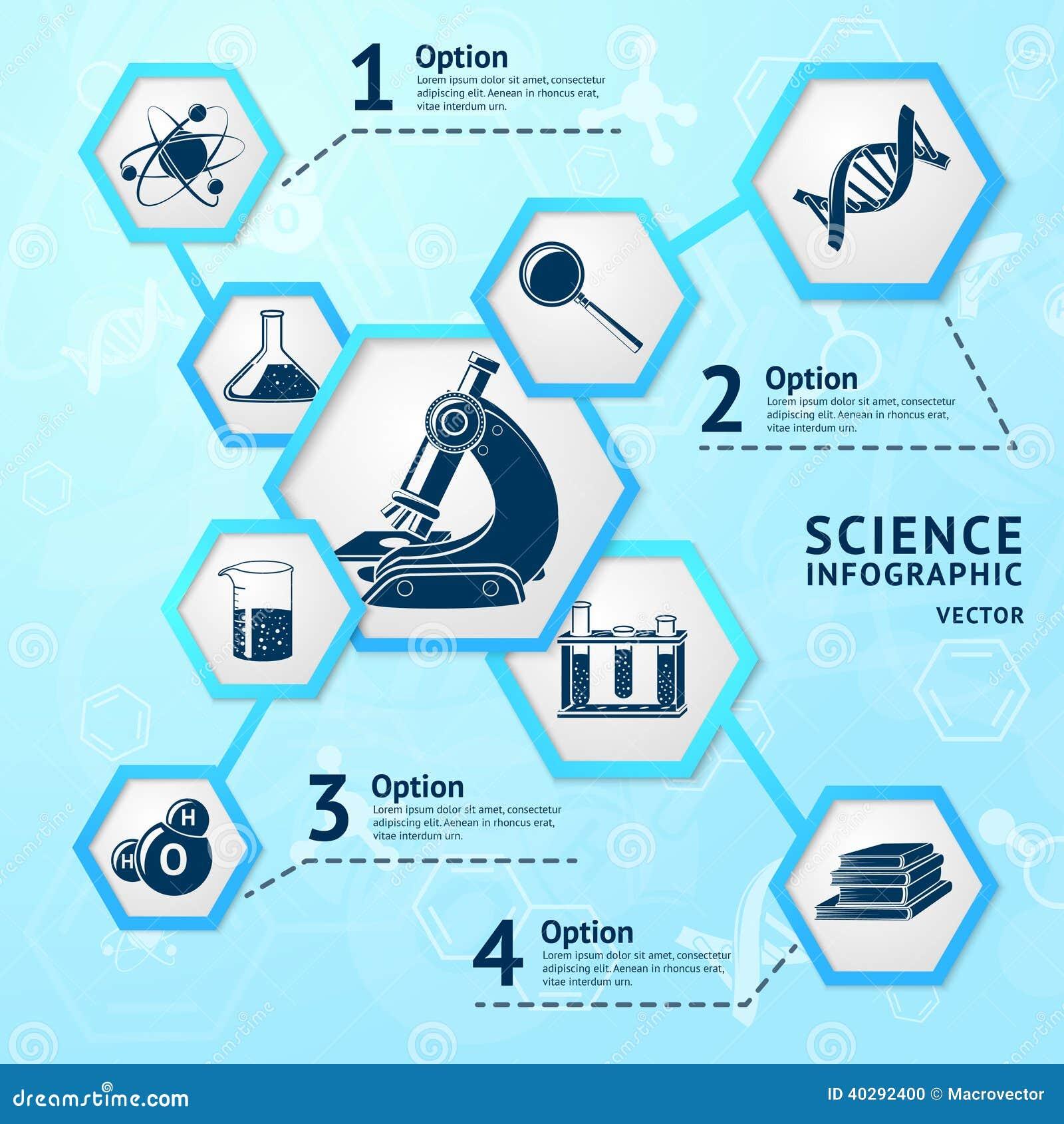 Science Hexagon Infographic Stock Vector Image 40292400