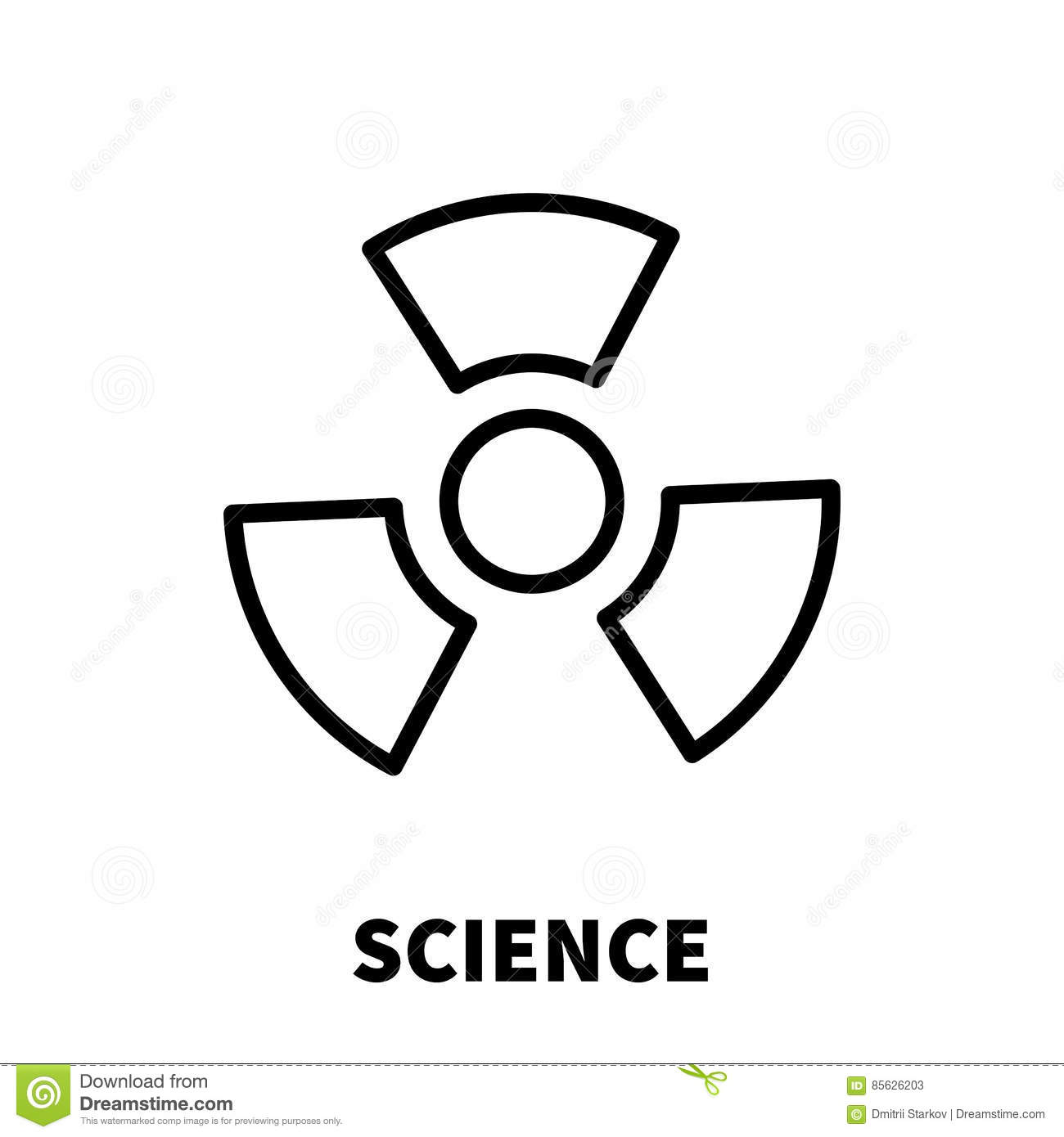 science icon or logo in modern line style  stock vector