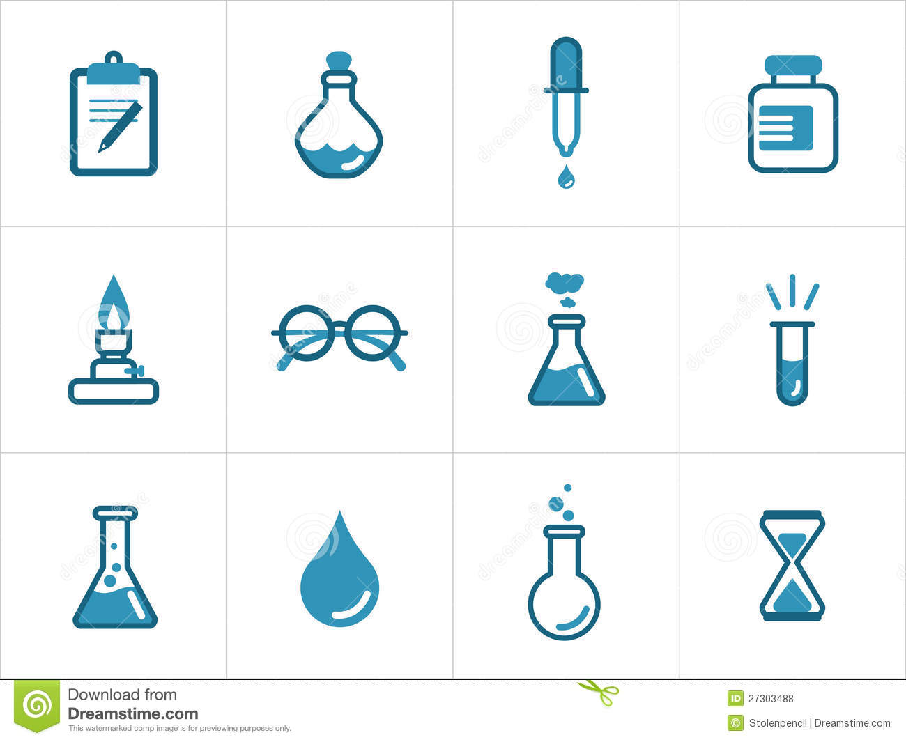 Science icon set for your products and projects, easy to edit, resize ...