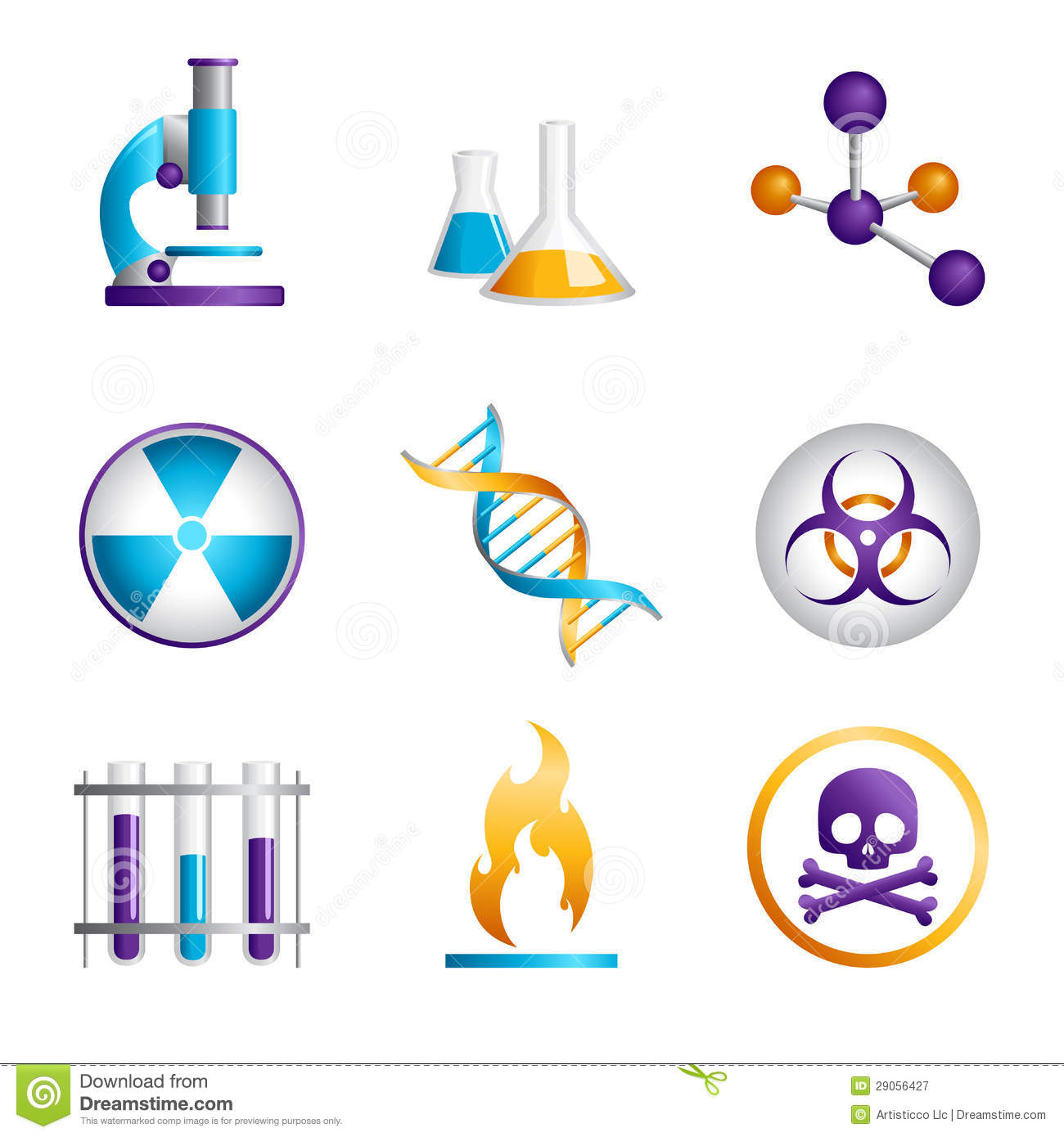science icons stock vector illustration of chemical 29056427