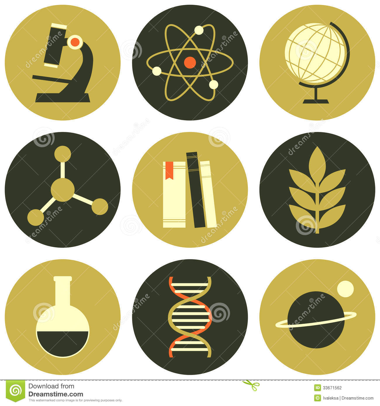 Science Icons Collection Stock Photography Image 33671562