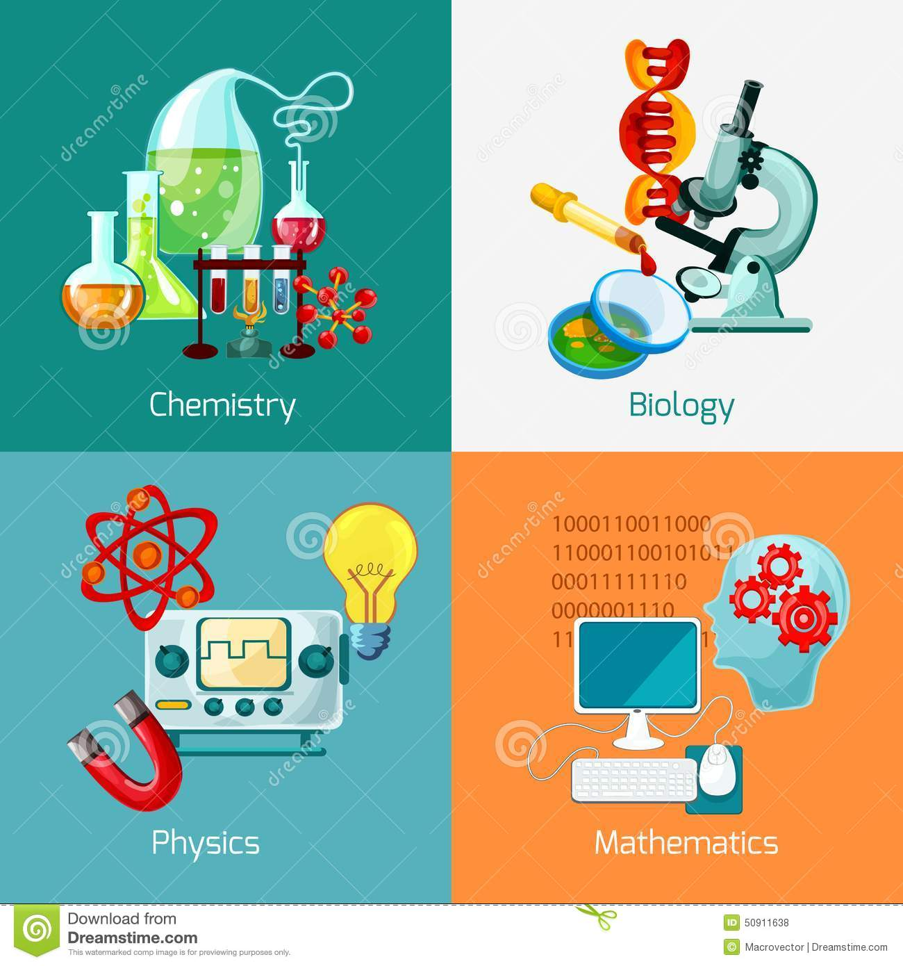 Science Physics From: Science Icons Set Stock Vector. Illustration Of Medical