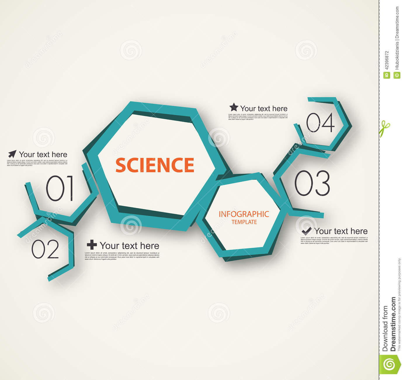 science infographic template stock vector