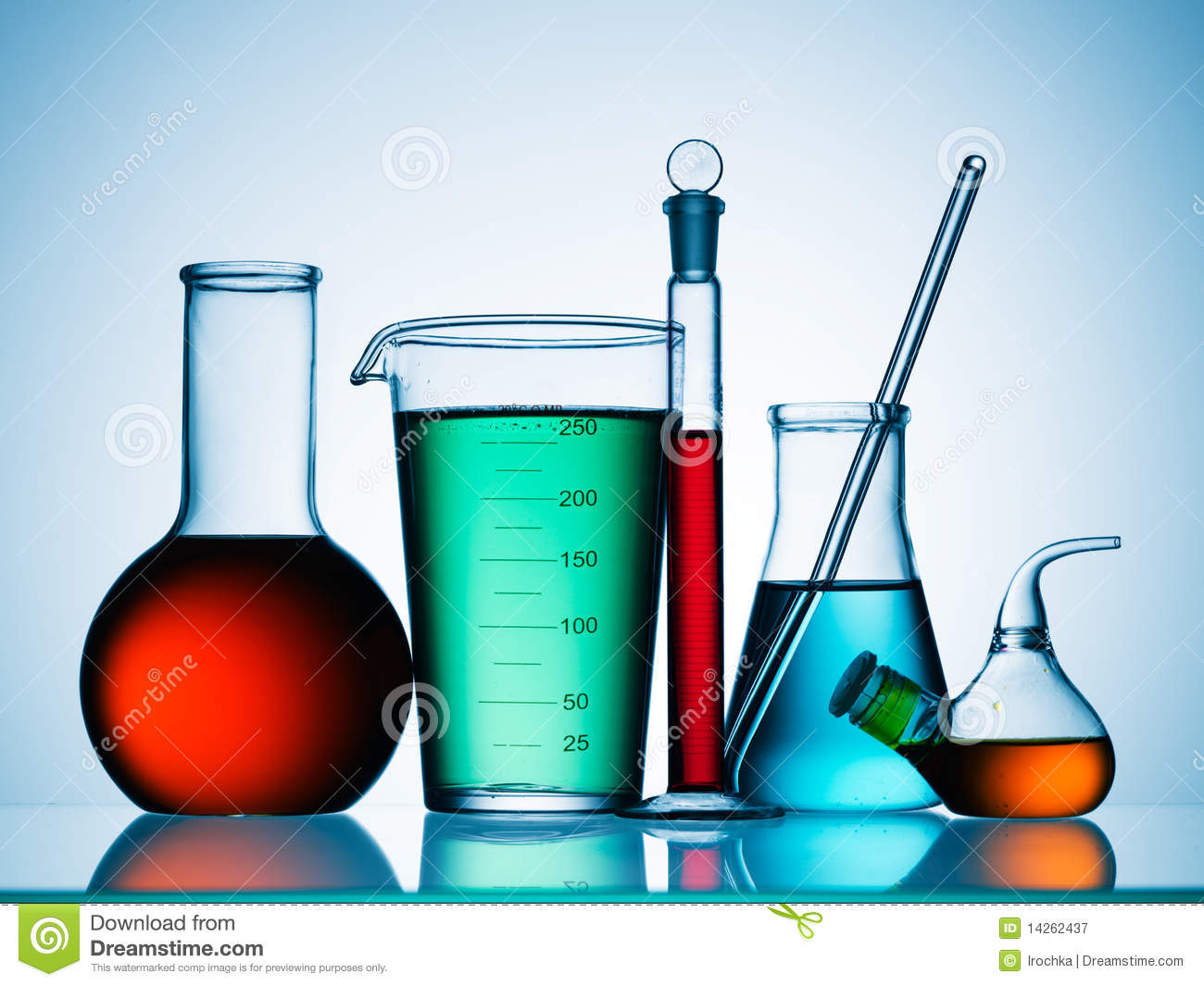 Science Lab Chemicals Royalty Free Stock Photography - Image: 14262437