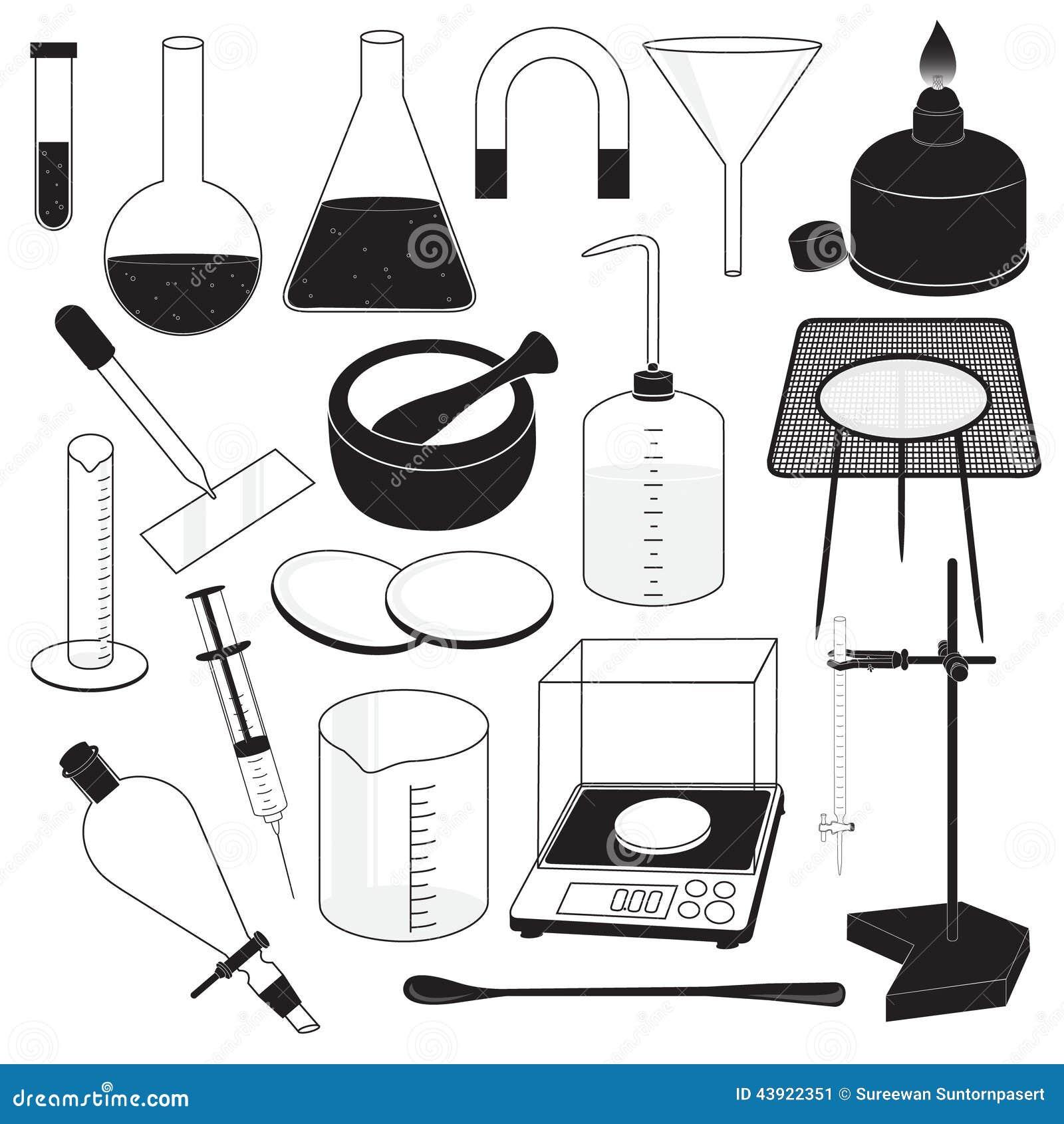 Science Laboratory Equipment Stock Vector