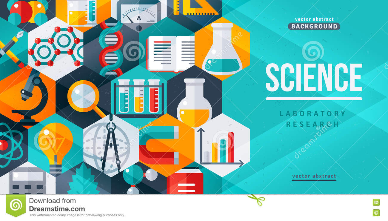 Poster design science - Science Laboratory Research Creative Banner Royalty Free Stock Photography