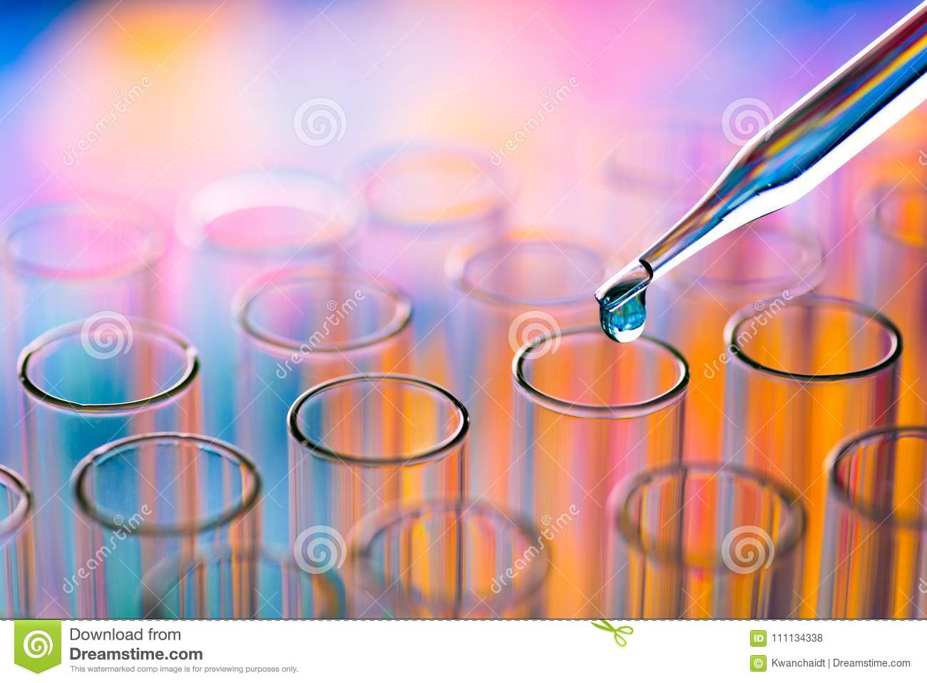 Science laboratory test tubes , lab equipment for research new m