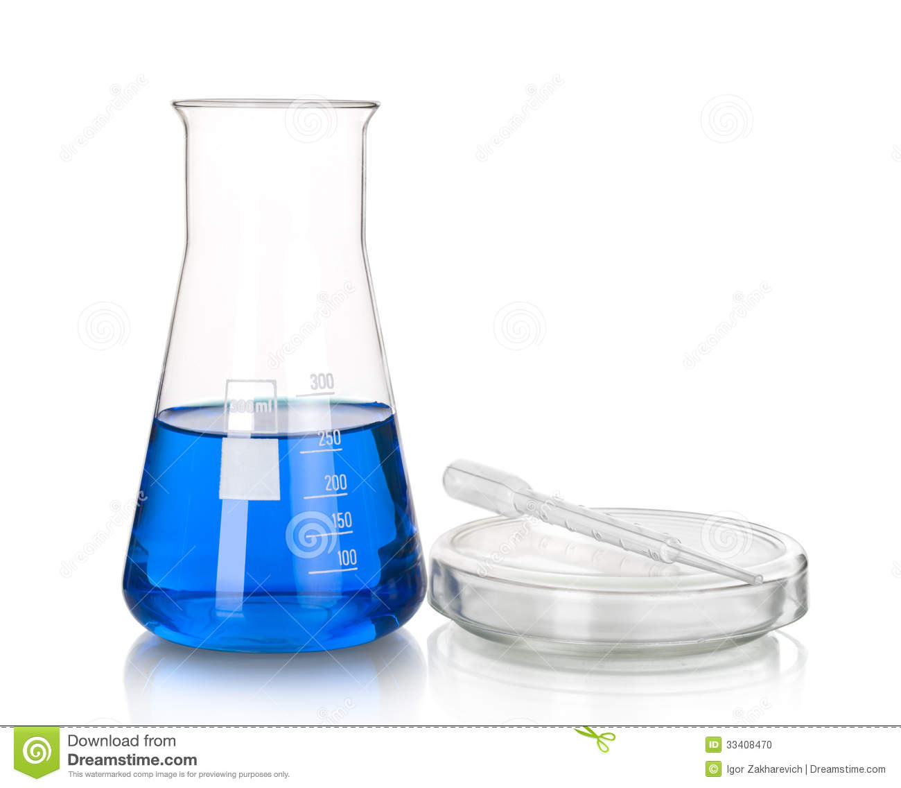 science and medical glassware and test tube stock photo