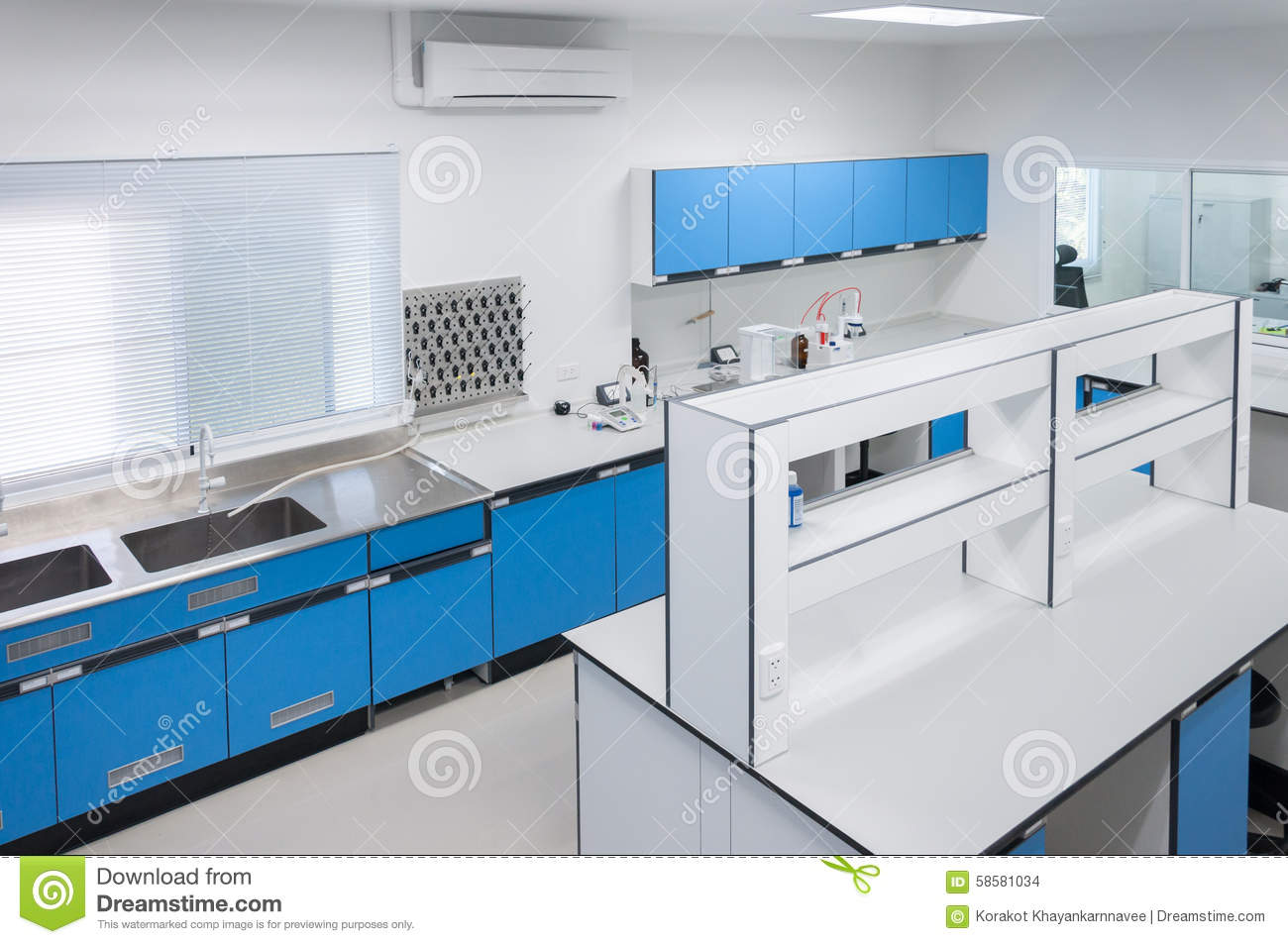 Science modern lab interior architecture stock photo for Interior decoration equipment