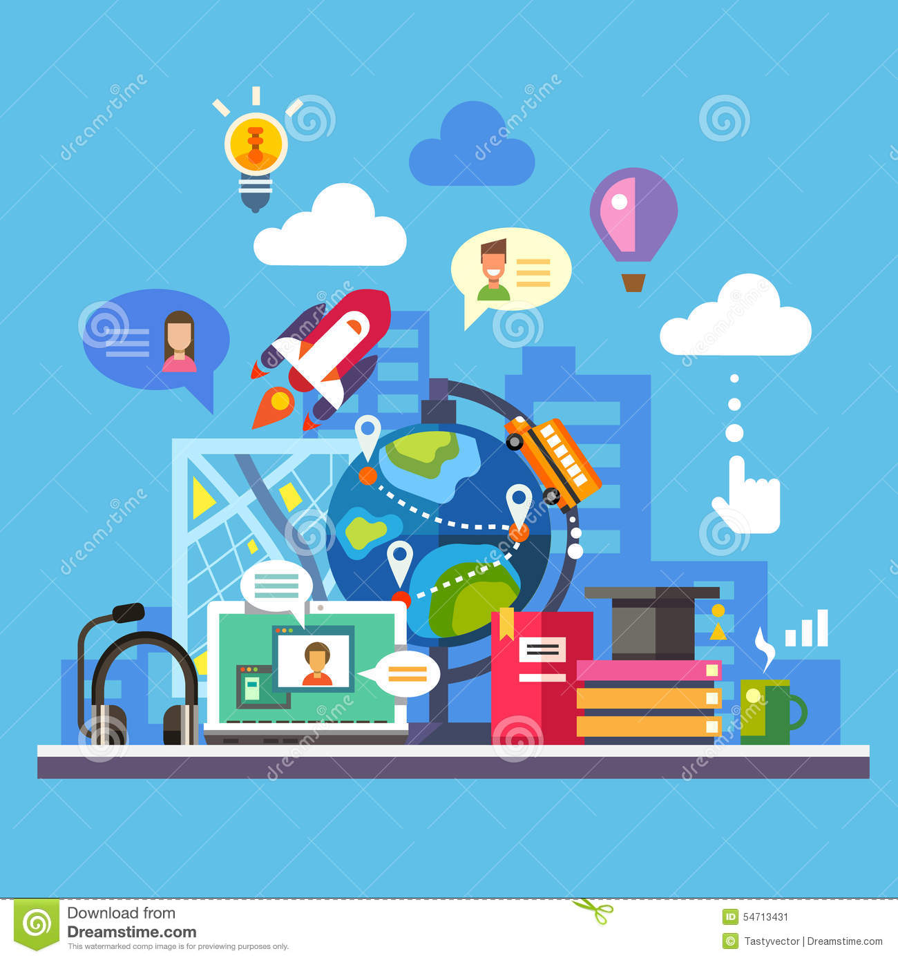 Science Technology: Science And Modern Technology Stock Vector