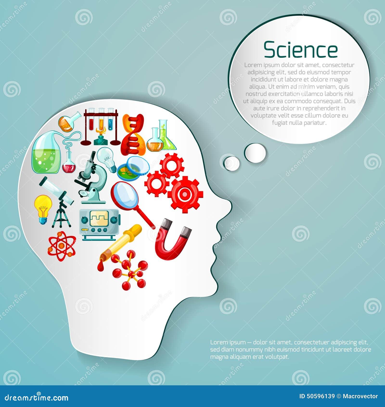 Science Poster Illustration Stock Vector