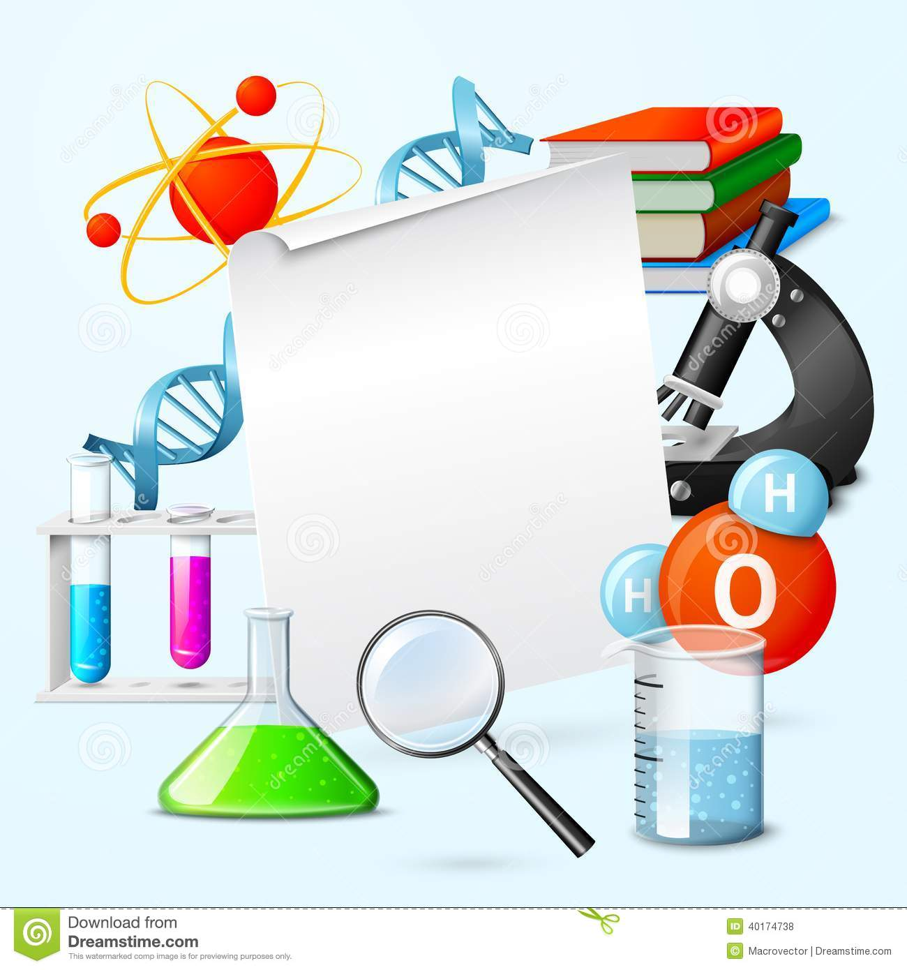Science Realistic Frame Stock Vector Image 40174738