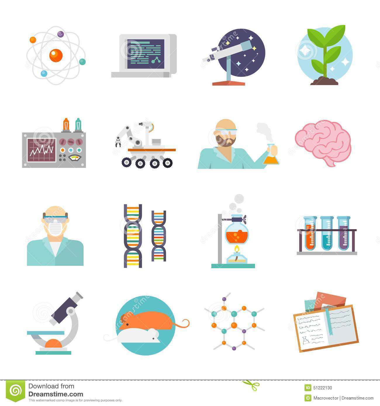 Science and research icon flat stock vector illustration of flat science and research icon flat buycottarizona