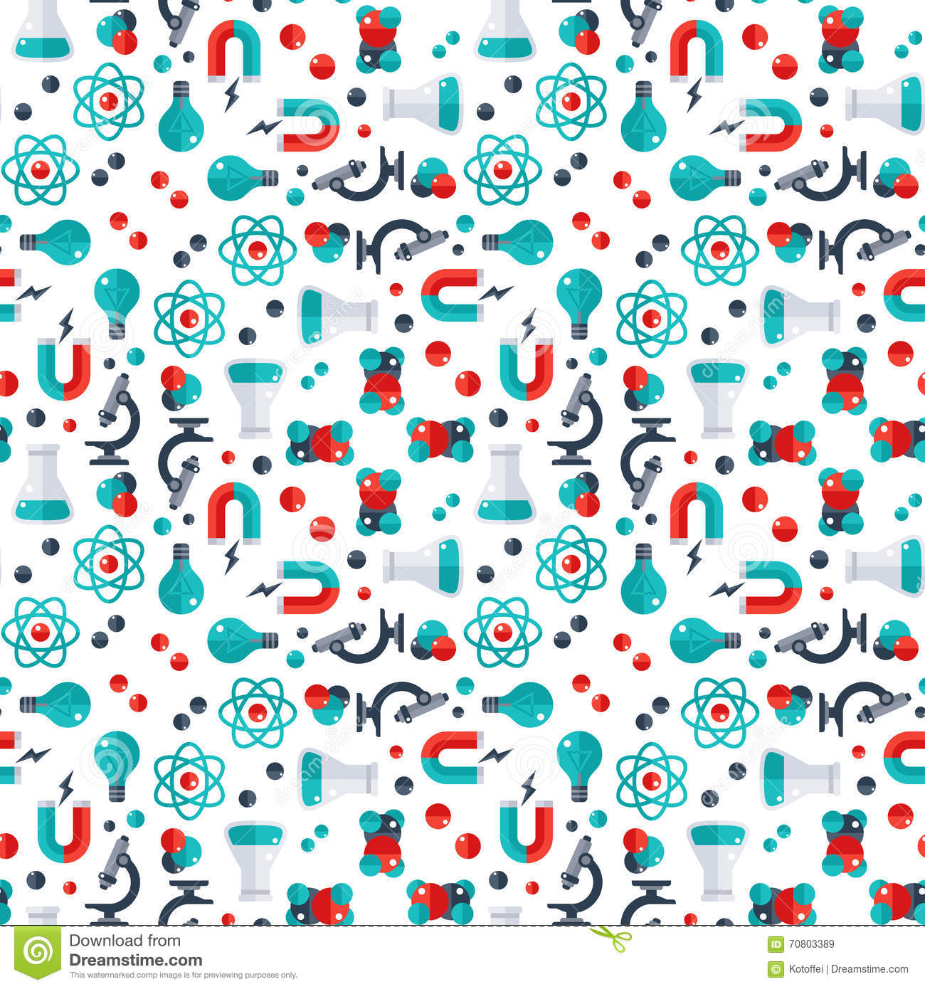Science Laboratory Background Design: Science Seamless Pattern Stock Vector. Image Of Microscope