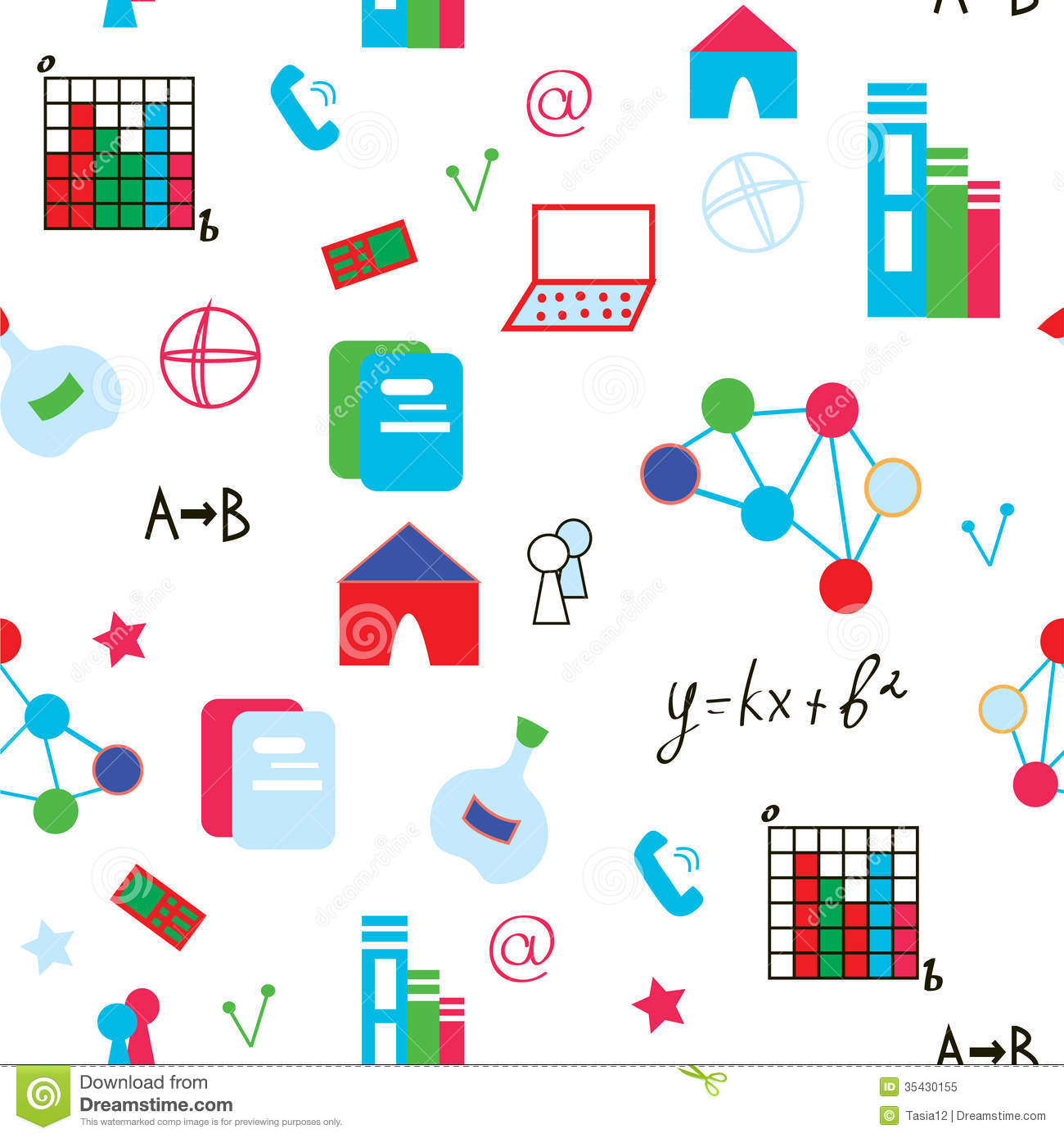 Science Symbols Seamless Pattern Funny Stock Vector ...