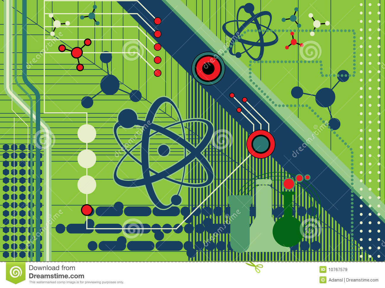 Science And Technology Collage Stock Vector