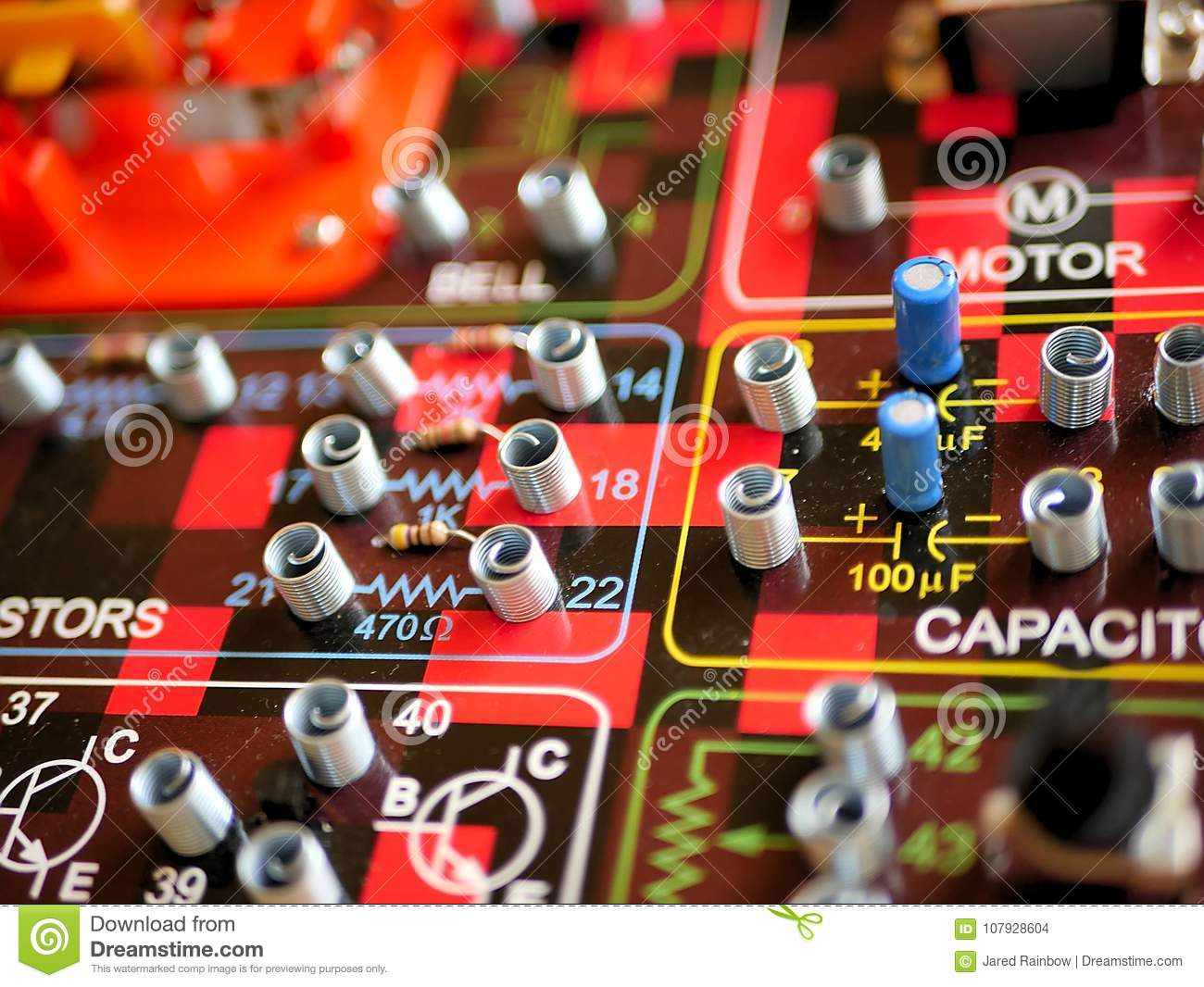 Science And Technology Electrical Circuit Board Stock Photo Image Learn About Electricity For Kids A Toy Designed To Help Circuits