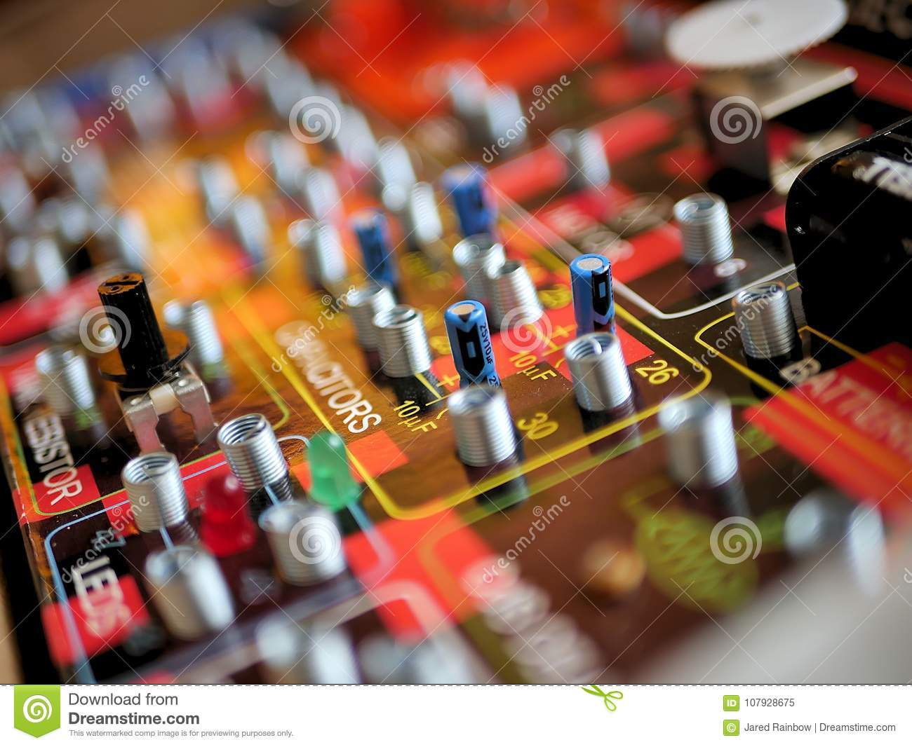 Science And Technology Electrical Circuit Board Learning Stock Image Learn About Electricity For Kids