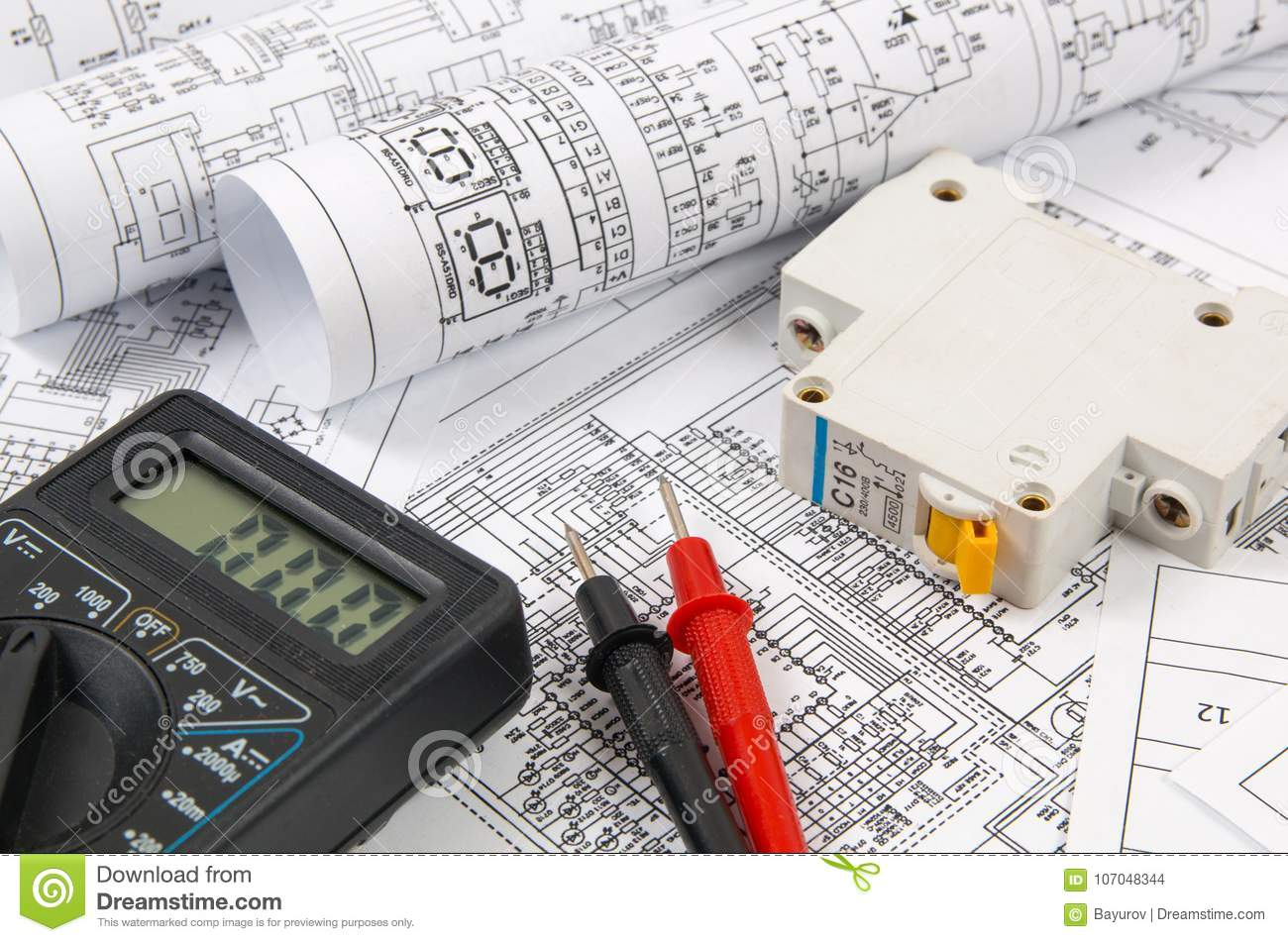 Science, Technology And Electronics. Electrical Engineering Drawings ...