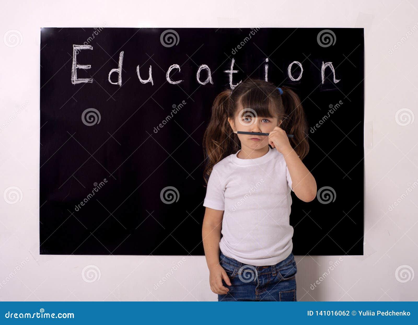 Science technology engineering maths STEM education concept. School girl kid
